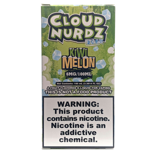 Cloud Nurdz Vape Juice - Kiwi Melon Iced