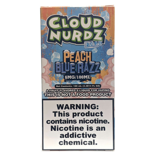 Cloud Nurdz Vape Juice - Peach Blue Razz Iced