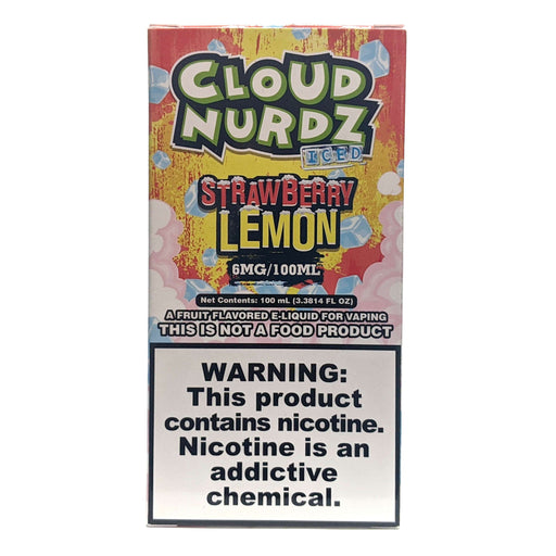 Cloud Nurdz Vape Juice - Strawberry Lemon Iced