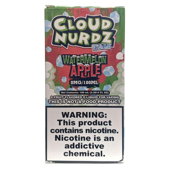 Cloud Nurdz Vape Juice - Watermelon Apple Iced