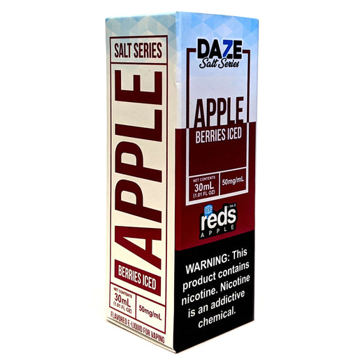 Daze Salt Series Vape Juice - Red's Apple Berries Iced