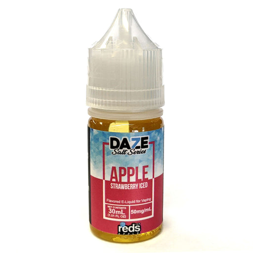 Daze Salt Series Vape Juice - Red's Apple Strawberry Iced