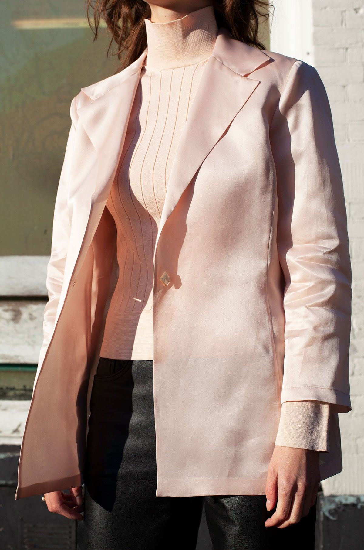 Gianfranco Ferre Studio Light Pink Silk Blazer