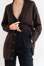 Load image into Gallery viewer, Salvatore Ferragamo Classic Brown Cardigan