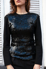 Load image into Gallery viewer, Yves Saint Laurent Vintage Black Sequin Top