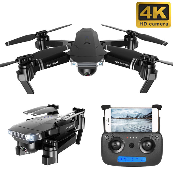 SG901 Drone 4K Dual HD Camera WIFI FPV Optical Flow Foldable Quadcopter Professional Follow Me RC Helicopter Selfie Dron x pro