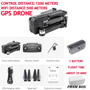 SJRC F11 Drone GPS Professional 5G WiFi Brushless RC Dron 25mins Flight Time 1080P Selfie FPV Drone Quadcopter With Camera HD