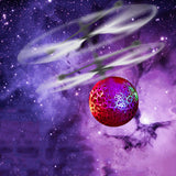 Flying Luminous Balls Toys Kid's Flying Ball Mini LED Drone Helicopter Infrared Induction Aircraft Remote Control Birthday Gift