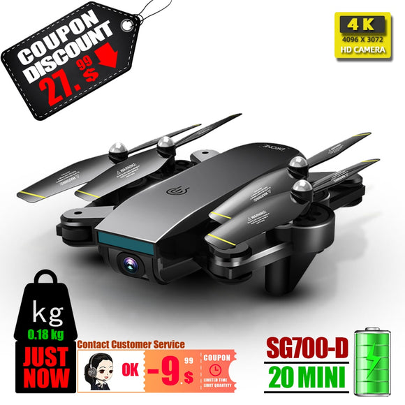 SG700 SG700D rc drone 4K quadcopter quadrocopter dron drones with camera toys profissional drohne  VS X8 SG901 S20 2020 new