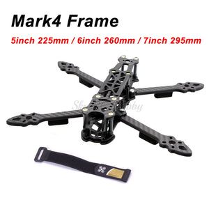 "Mark4 Mark 5inch 225mm / 6inch 260mm / 7inch 295mm with 5mm Arm Quadcopter Frame 5"" 6"" 7"" FPV Freestyle RC Racing Drone"