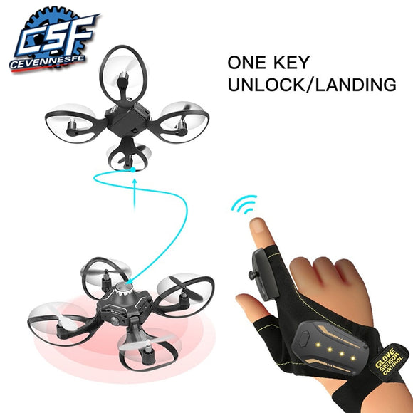 2019 New Original W606-16 Valcano Gloves Control Interactive Mini Drone Quadcopter Wifi FPV 480P Camera RC Helicopter Quadcopter