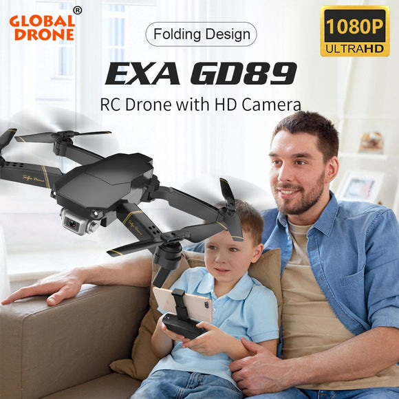 Global Drone EXA Foldable RC Drones with Camera HD Mini Quadcopter High Hold Helicopter Juguetes Quadrocopter Dron VS E58 E520