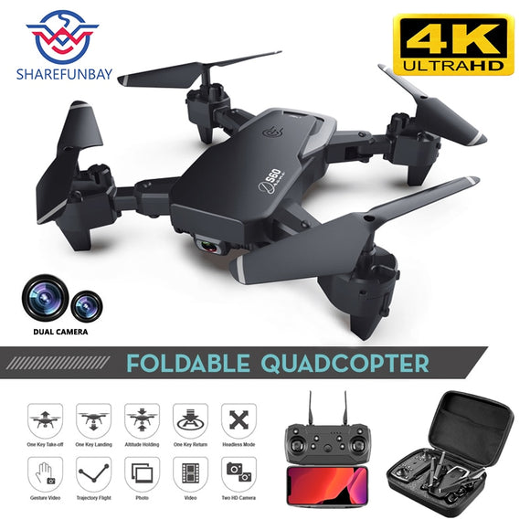 SHAREFUNBAY Drone 4k HD Wide Angle Camera 1080P WiFi fpv Drone Dual Camera Quadcopter Height Keep Drone Camera