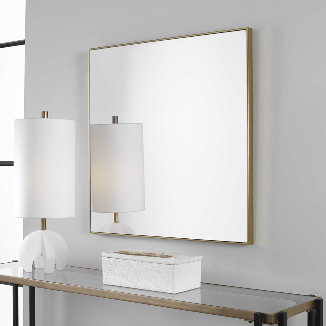 Amo Gold Square Mirror