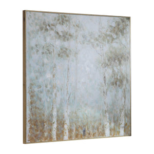 Mint Forest Hand Painted Canvas