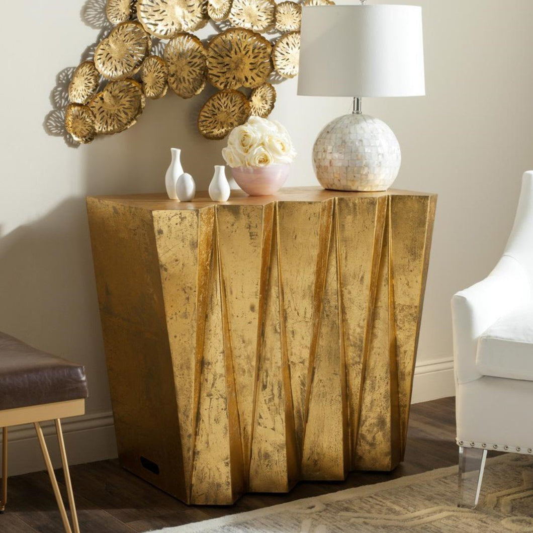 Fresh Gold Console Table