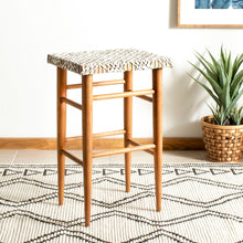 Load image into Gallery viewer, Fendi Woven Leather Barstool