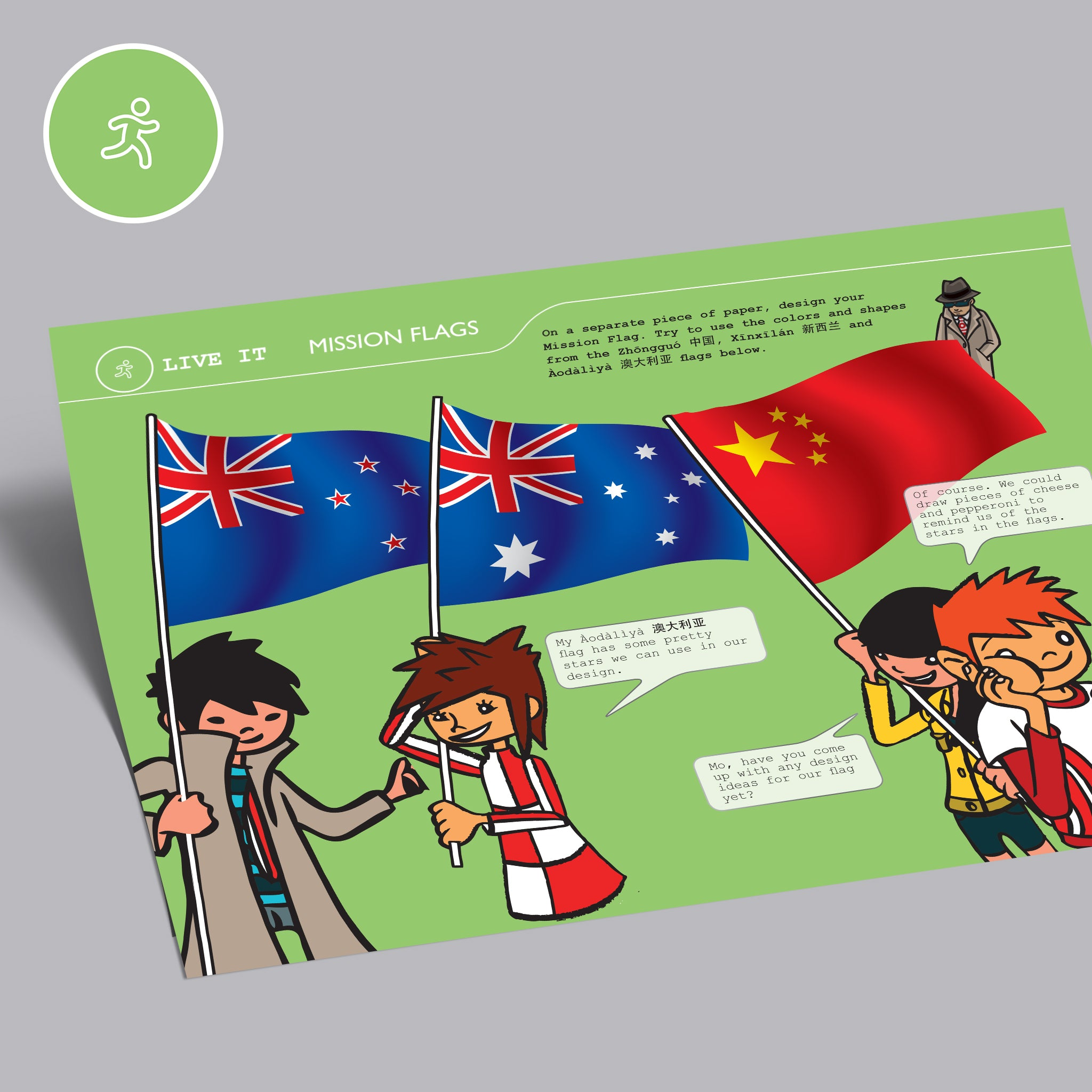 Live It - Mission Flags - Mission China - Australian & New Zealand Flags