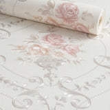 Papel de Parede Floral Rosas Damask Decoratto
