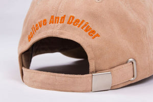 Tan & Orange Suede Baseball Cap - BAD Couture