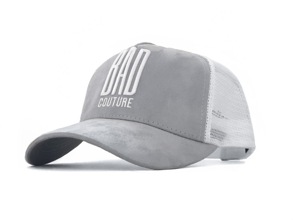 Grey & White Trucker