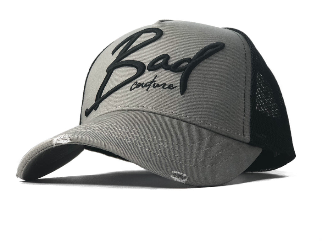Grey & Black Trucker - BAD Couture