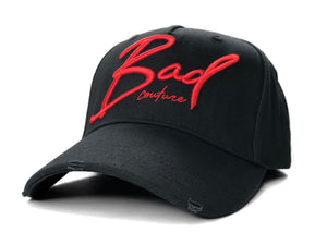 Black Italic Baseball Hat - BAD Couture