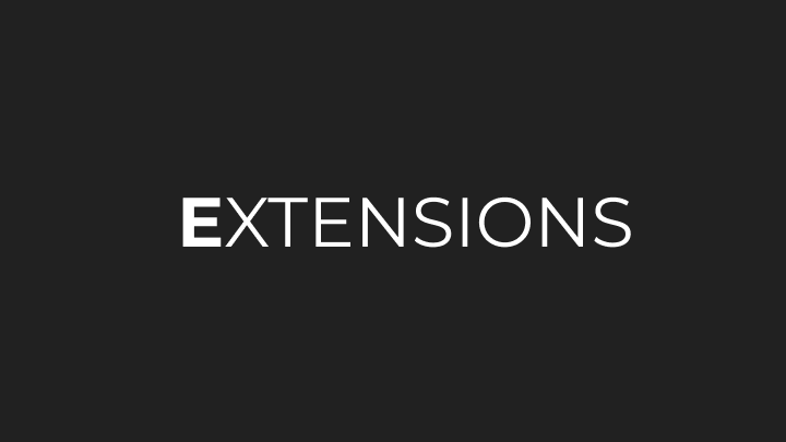 EXTENSIONS (7 options)