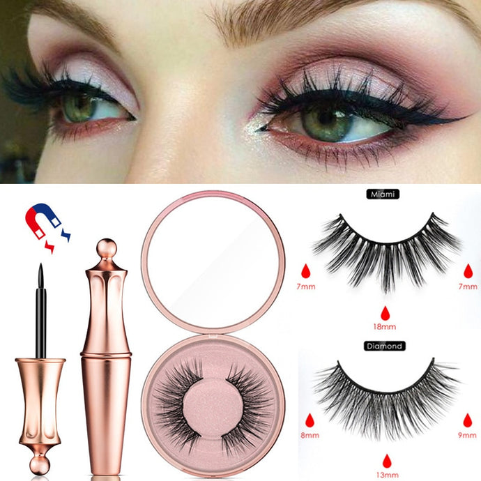 Magnetic False Eyelashes Waterproof Magnetic Eyeliner