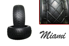Hot Race - 1/8 Competition Tyres - Pair - Miami