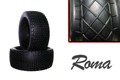 Hot Race - 1/8 Competition Tyres - Pair - Roma