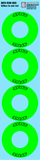 Maugrafix - Decals for Hotrace Carbon Rims - Green - Large - Set of 4
