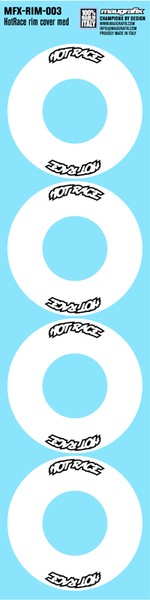 Maugrafix - Decals for Hotrace Carbon Rims - White - Large - Set of 4