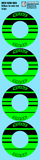 Maugrafix - Decals for Hotrace Carbon Rims - Green - Stripe - Set of 4
