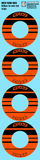 Maugrafix - Decals for Hotrace Carbon Rims - Orange - Stripe - Set of 4