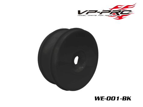 VP PRO 1/8 Buggy Plastic Dish Rim (Black) - Set of 4