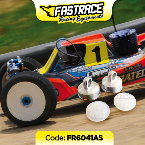 "FR6041AS Fastrace race damper cap ""4hole"" with Honeycomb RC8B3 membranes (2)"