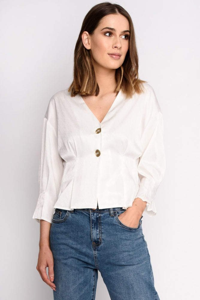 Silk Button Top