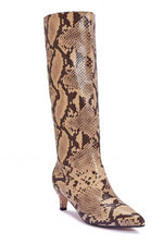 Snakeskin Knee-High Boots