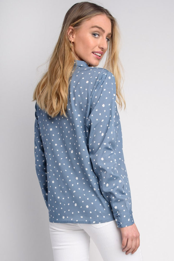 Blue Spot Blouse