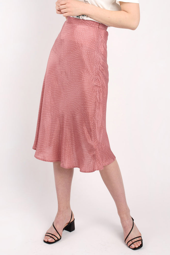 Pink Polka Dot Slip Skirt