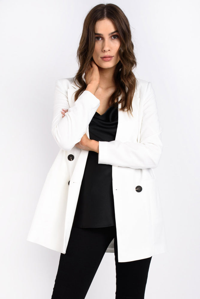White Long Blazer