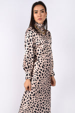 Animal Print High-neck Top
