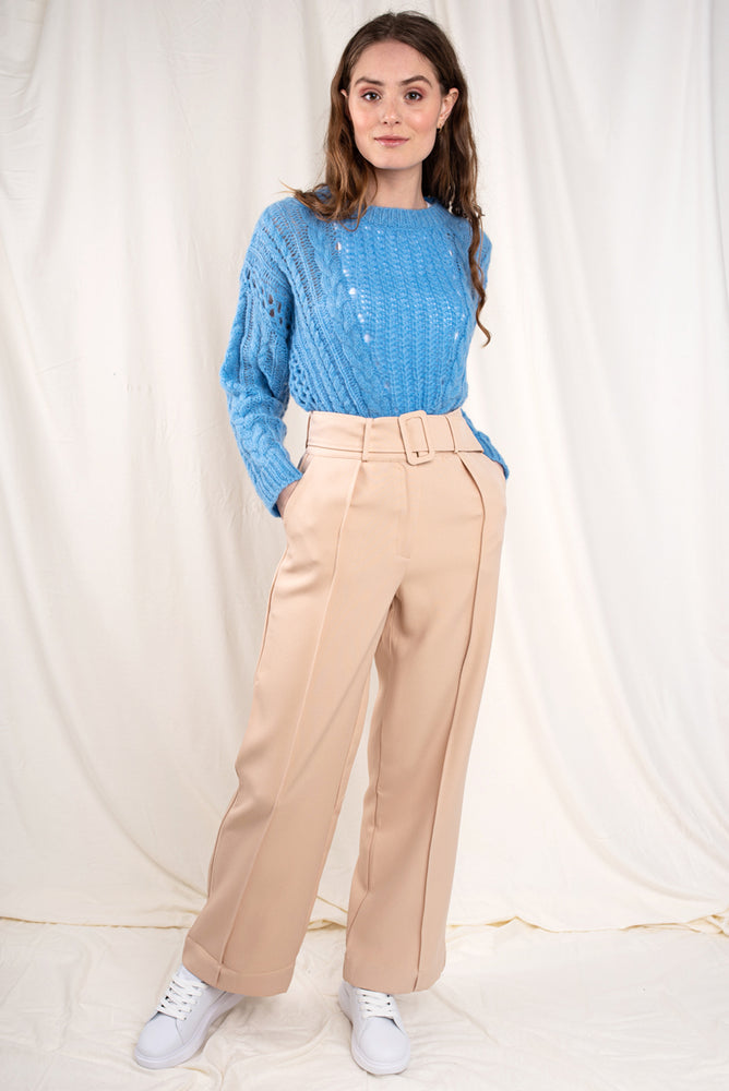 Bella Belted Wide Leg Trousers