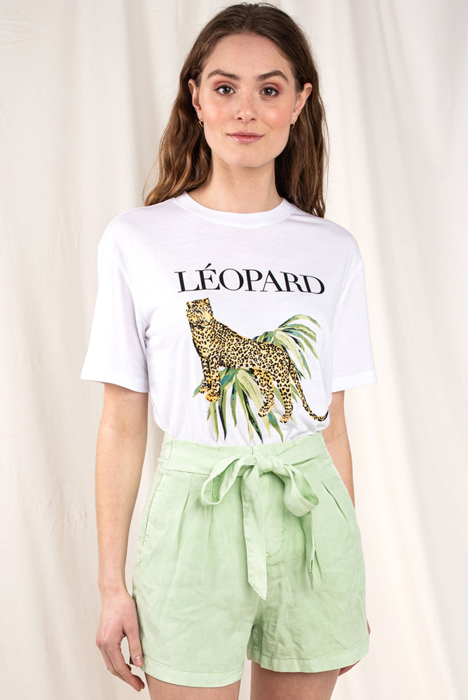Leopard Print Graphic Tee