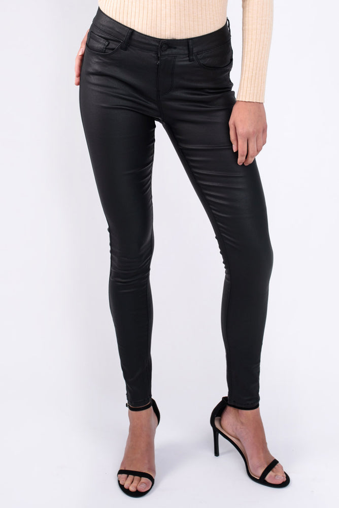 Smooth Coated Skinny Jeans