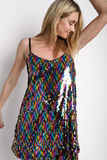 Rainbow Sequin Mini Dress