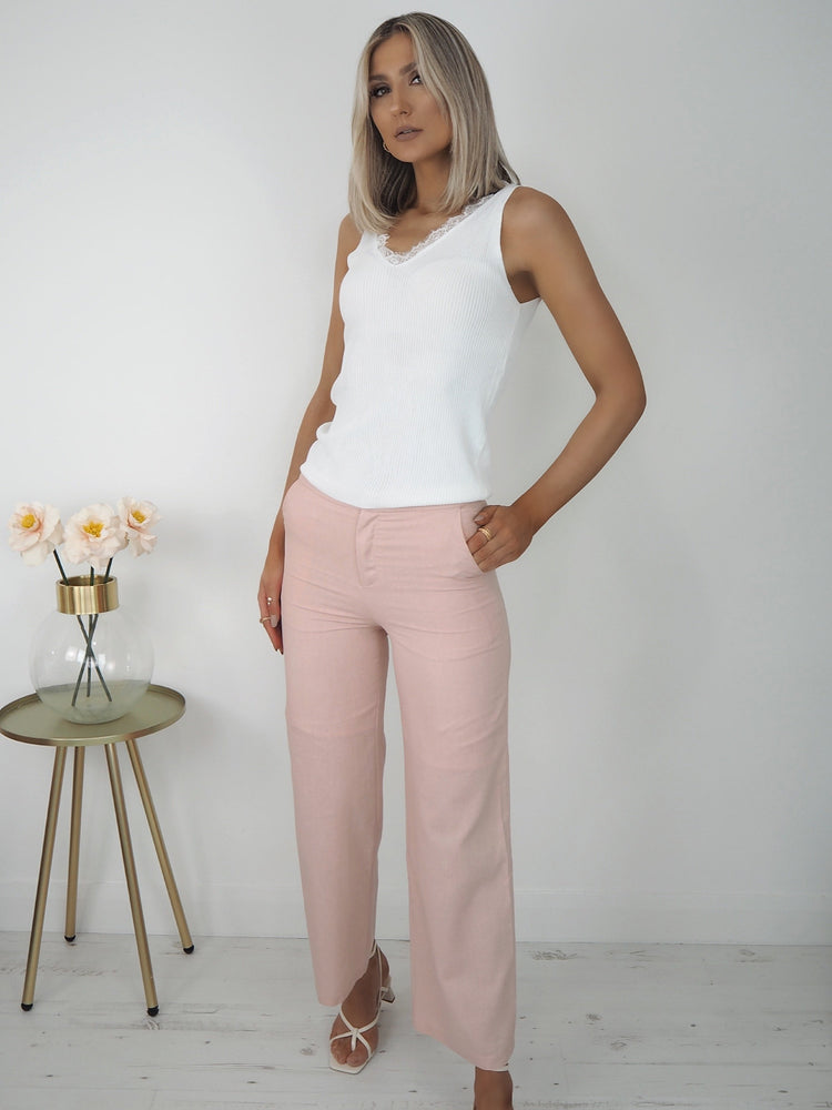 Kate Wide Leg Linen Trousers