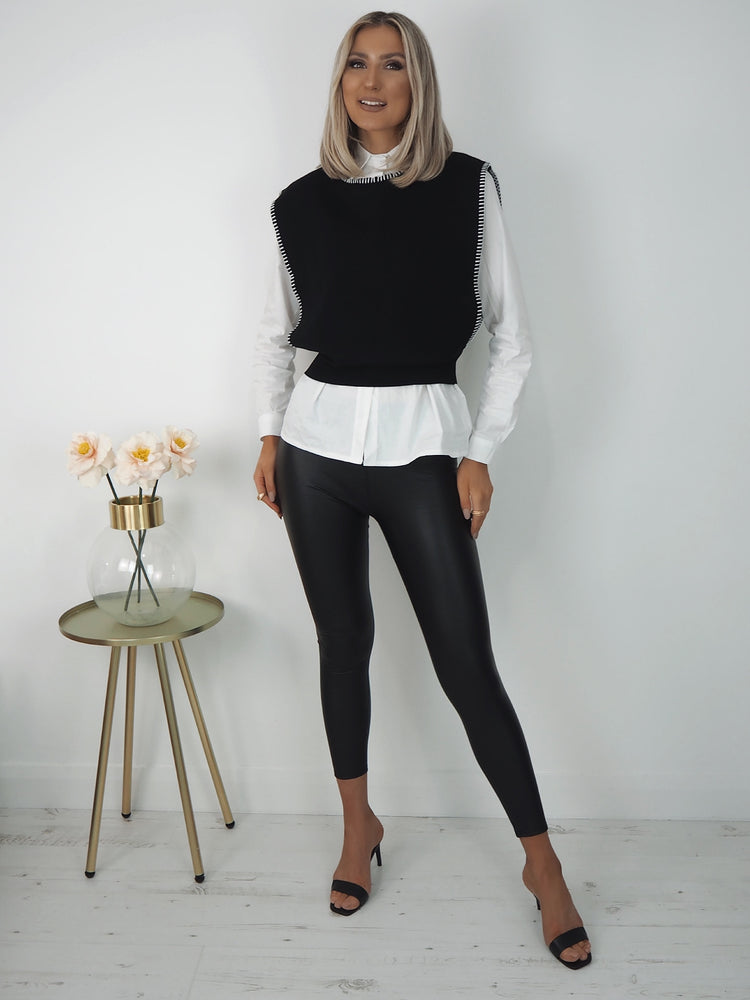 Sara Jumper Shirt - Black