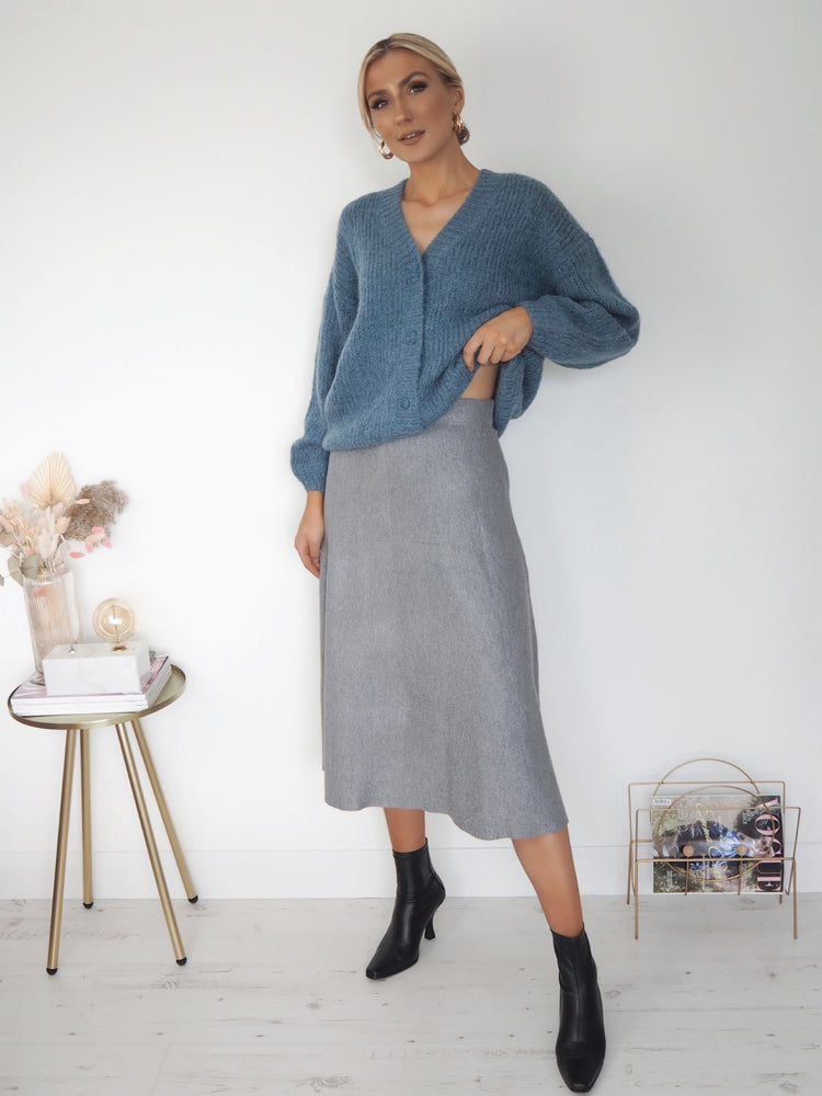 Penelope Plain Skirt - Grey